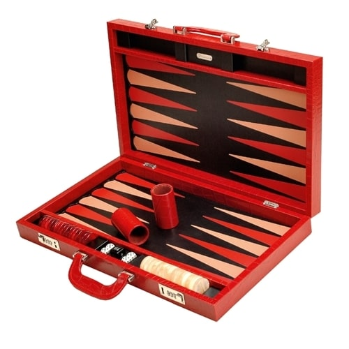 Нарды Renzo Romagnoli Red Crocco Backgammon Case