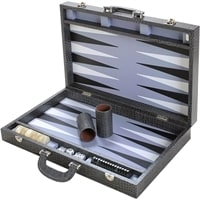 Нарды Renzo Romagnoli Large Grey Crocco Backgammon