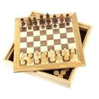 Набор игр CRAFTSMAN, 2 в 1, шашки + шахматы 26х26х4 см