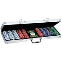 Набор для покера в алюминиевом кейсе, 500 фишек по 11,5 г с номиналом, пластик, 571 x 230 x 65 мм