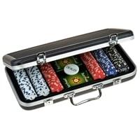 Набор для покера в алюминиевом кейсе, 300 фишек по 11,5 г с номиналом, пластик, 405 x 230 x 65 мм