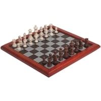 Шахматы, доска - ДВП, фигуры - дерево, 396 х 396 х 21 мм