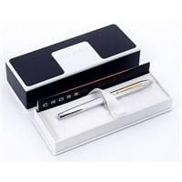 Ручка-роллер Selectip Cross Century II. Цвет - серебристый с золотистой отделкой. – 3304