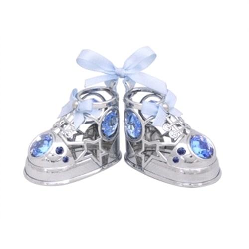 Миниатюра с голубыми кристаллами Crystocraft «Baby туфельки»