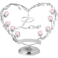 Миниатюра с розовыми кристаллами Crystocraft «Любовь»