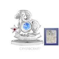 Миниатюра с голубыми кристаллами Crystocraft «Знаки Зодиака — Овен»