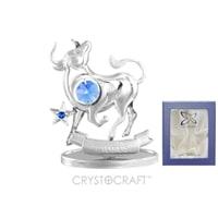 Миниатюра с голубыми кристаллами Crystocraft «Знаки Зодиака — Телец»