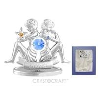 Миниатюра с голубыми кристаллами Crystocraft «Знаки Зодиака — Близнецы»