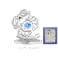 Миниатюра с голубыми кристаллами Crystocraft «Знаки Зодиака — Рак»