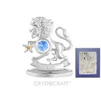Миниатюра с голубыми кристаллами Crystocraft «Знаки Зодиака — Лев»