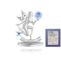 Миниатюра с голубыми кристаллами Crystocraft «Знаки Зодиака — Дева»