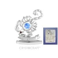 Миниатюра с голубыми кристаллами Crystocraft «Знаки Зодиака — Скорпион»