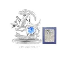 Миниатюра с голубыми кристаллами Crystocraft «Знаки Зодиака — Козерог»