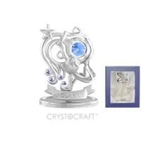 Миниатюра с голубыми кристаллами Crystocraft «Знаки Зодиака — Водолей»