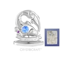 Миниатюра с голубыми кристаллами Crystocraft «Знаки Зодиака — Рыбы»