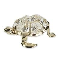 Миниатюра Crystocraft «Морская черепаха» с бесцветными кристаллами