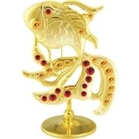 Миниатюра Crystocraft «Золотая Рыбка» с цветными кристаллами