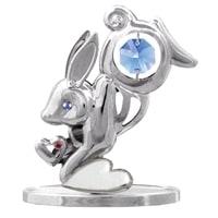 Миниатюра Crystocraft «Кролик» с голубыми кристаллами