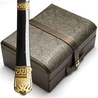 Набор столовых приборов в кожаном чемодане на 12 персон МВ-23454