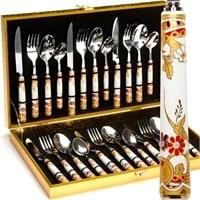 Набор столовых приборов в подарочной упаковке на 6 персон «ГЕРМЕС» МВ-24917