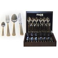Набор столовых приборов в деревянной коробке на 6 персон «Falperra Gold»