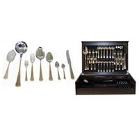 Набор столовых приборов на 12 персон из 75 предметов «Falperra Gold» в деревянной коробке