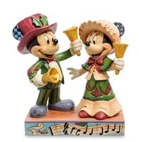 Фигурка Микки и Минни Маус с колокольчиками «С Рождеством!»