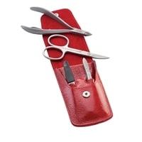 Маникюрный набор Dovo 4 инструмента (красный)