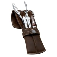 Маникюрный набор Erbe 4 инструмента (коричневый)