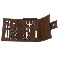Маникюрный набор Erbe 7 инструментов (коричневый)