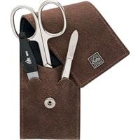 Маникюрный набор Erbe 3 инструмента (коричневый)