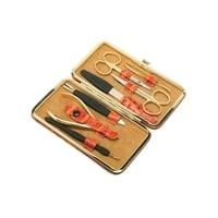 Маникюрный набор GD 7 инструментов (рыжий)
