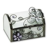 Шкатулка Jardin D'Ete «Стеклянная бабочка», сталь, стекло, 11 х 10 х 8 см