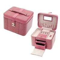 Шкатулка для украшений Jardin D'Ete, цвет бежево-розовый, лакированная, 27,5 х 25,2 х 21,3 см