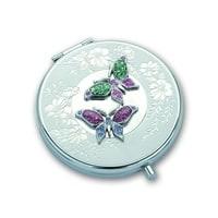 Зеркало косметическое Jardin D'Ete со стразами «Бабочки» сталь + стекло O64 мм