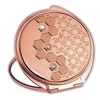 Зеркало косметическое Jardin D'Ete со стразами покрытие из розового золота