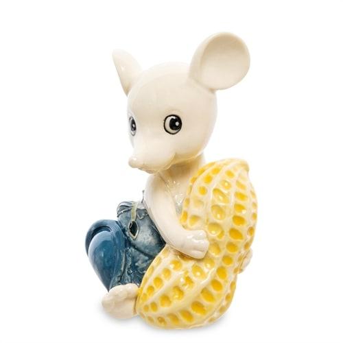 Фарфоровая фигурка «Мышка с орехом» JP-121/8 (Pavone)