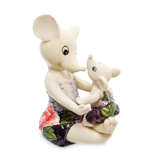 Фарфоровая фигурка «Мышь с малышом» JP-121/11 (Pavone)
