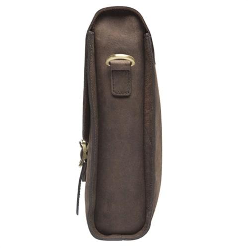 154ba604843e Сумка из натуральной кожи в темно-коричневом цвете KLONDIKE «Brett ...