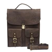 Мужская сумка из натуральной кожи в темно-коричневом цвете KLONDIKE «Brady»