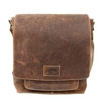 Мужская сумка из телячьей кожи в коричневом цвете KLONDIKE Native
