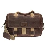 Наплечная сумка из телячьей кожи KLONDIKE Native в коричневом цвете