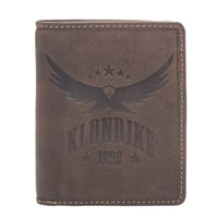 Бумажник из натуральной кожи KLONDIKE «Don» в темно-коричневом цвете