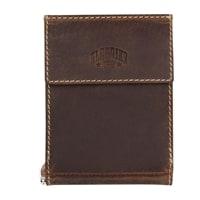 Бумажник из натуральной кожи KLONDIKE Yukon с зажимом для денег в коричневом цвете