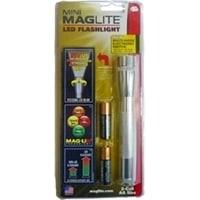 Фонарь MAGLITE LED (светодиод), 2АА, серебристый, 16,8 см, в блистере, с чехлом