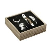 Набор винных аксессуаров Legnoart из 4 предметов в подарочной упаковке