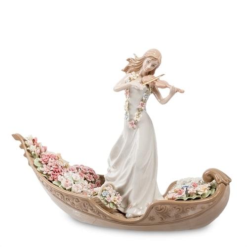Статуэтка «Девушка со скрипкой в гондоле» CMS-15/51 (Pavone)