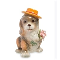 Статуэтка «Собака с букетом» CMS-60/19 (Pavone)