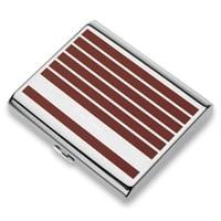 Портсигар Pierre Cardin, сплав цинка, покрытие хром + матовый красно-оранжевый лак