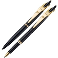 Набор Pierre Cardin PEN&PEN: ручка шариковая + роллер. Цвет - черный. Упаковка Е.